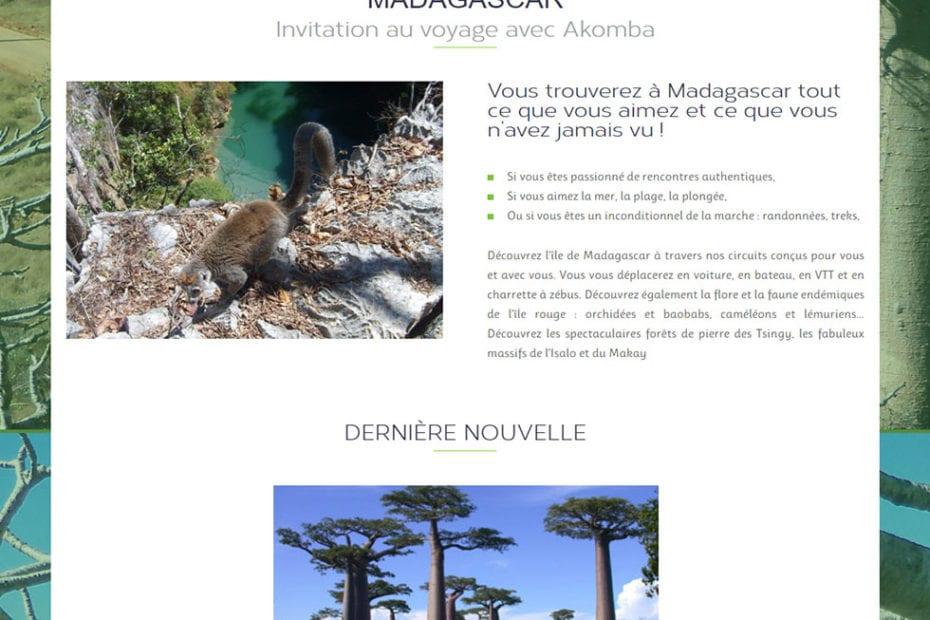 creation du site akomba