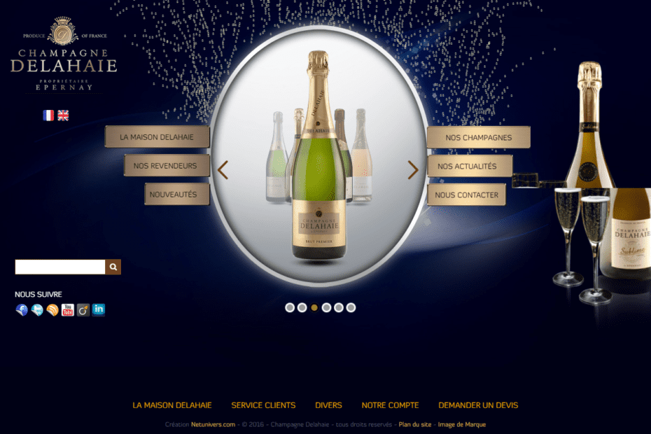 creation du site champagne delahaie