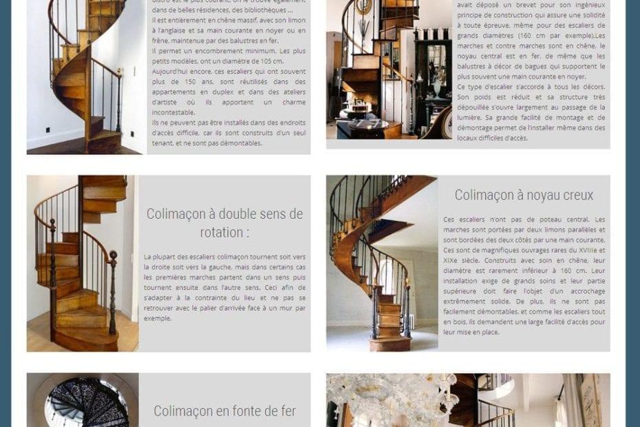 creation du site escalier lachaux
