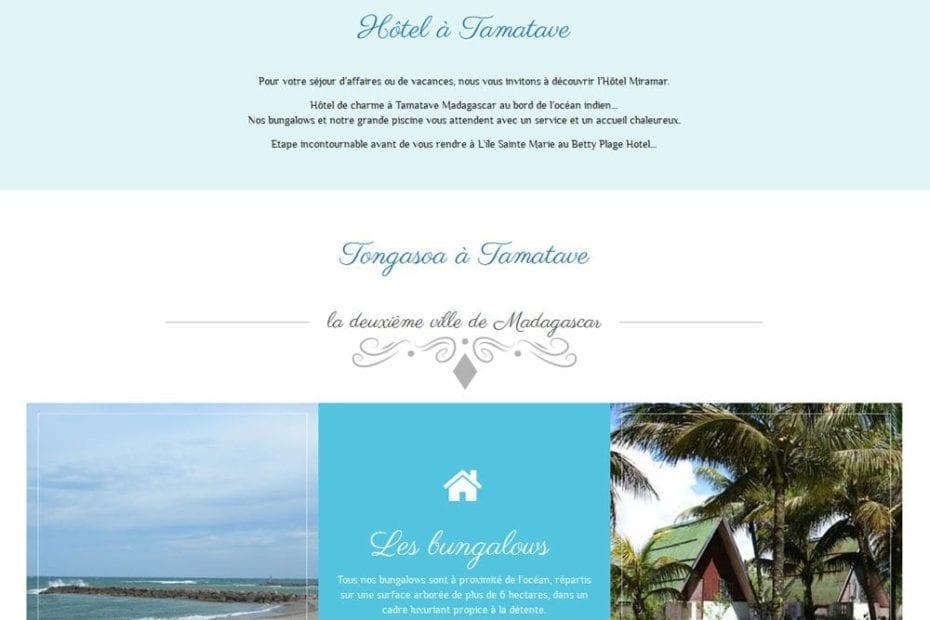 creation du site hotel miramar