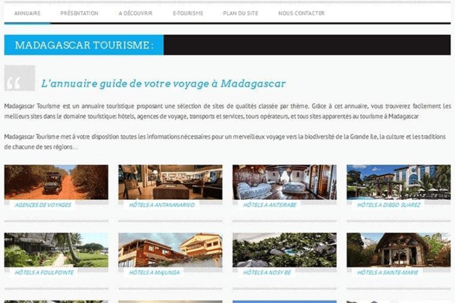 creation de site maddagascar tourisme