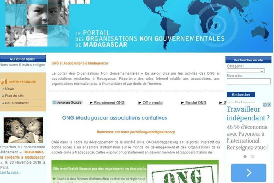 creation du site ong madagascar