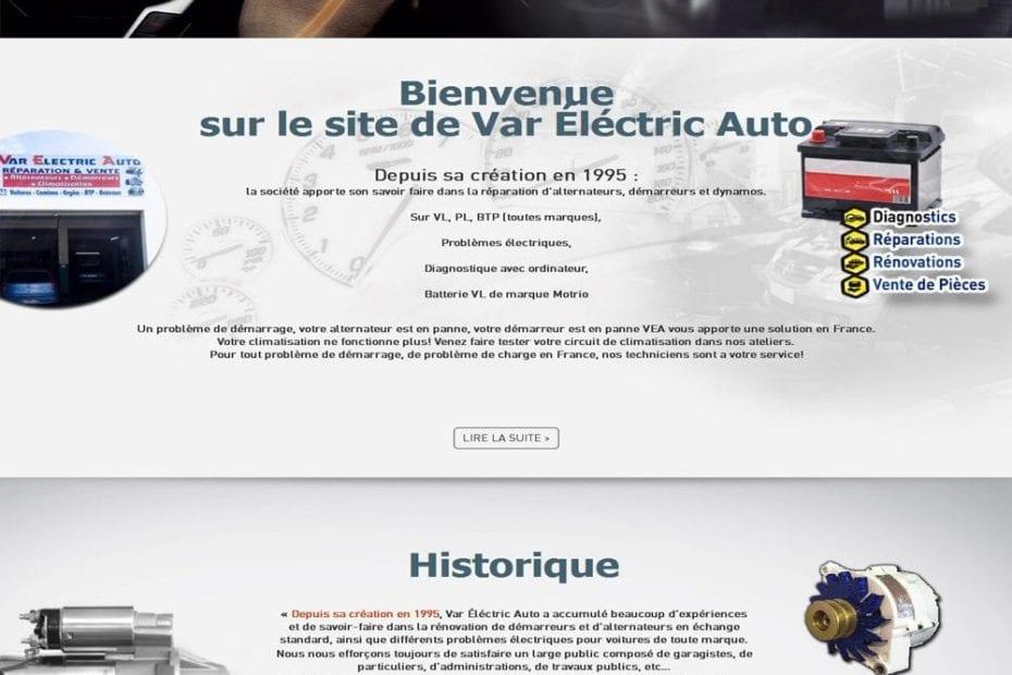 creation du site var electric auto