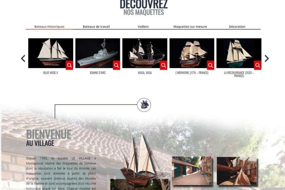 creation du site createur maquette