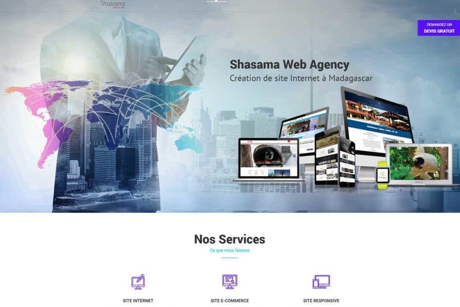 Shasama création site web à Madagascar