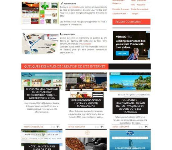 creation du site 3d madagascar