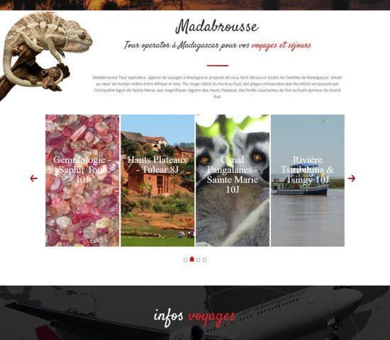 creation du site agence de voyage