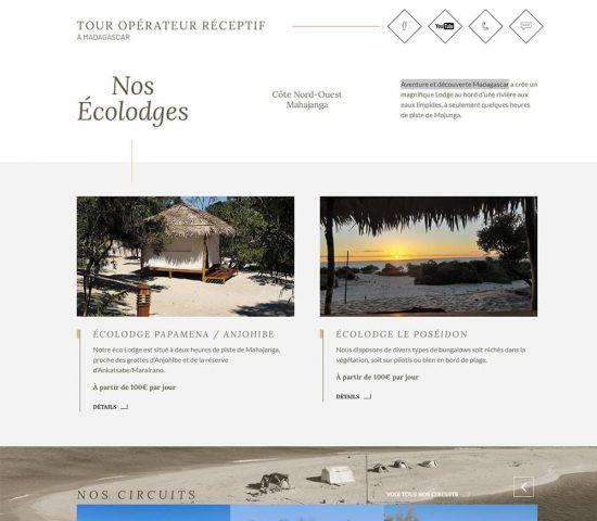 creation du site aventure et decouverte Madagascar