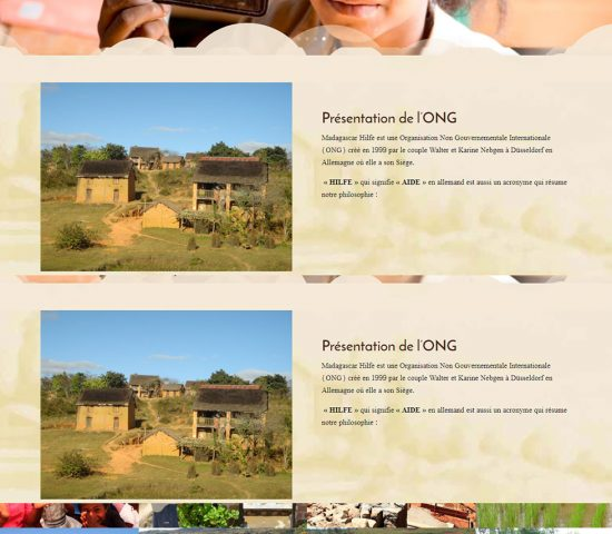 creation du site Madagascar Hilfe
