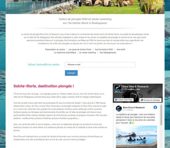 creation du site Bora dive