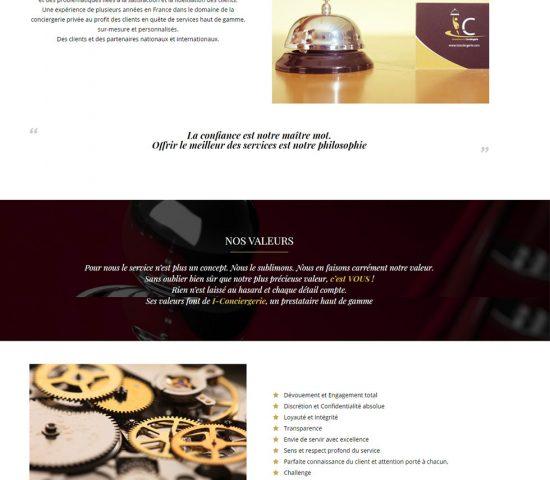 creation du site concierge