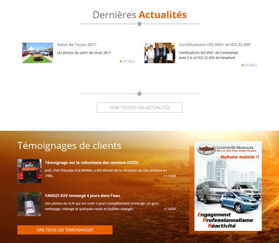 creation du site Continental Auto