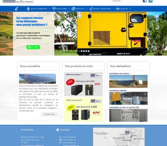 creation du site edm