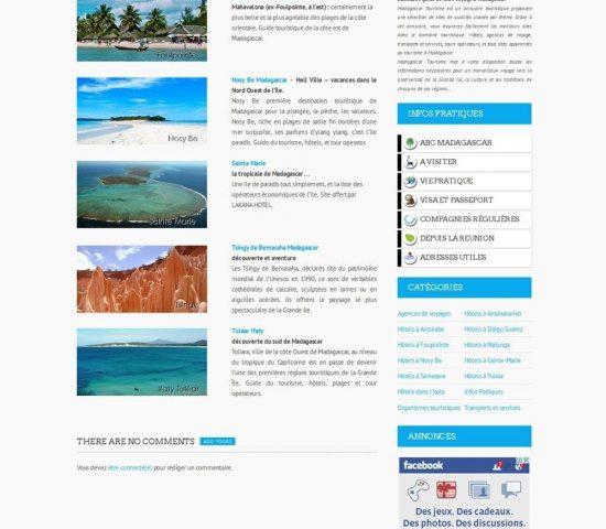 creation du site madagascar tourisme