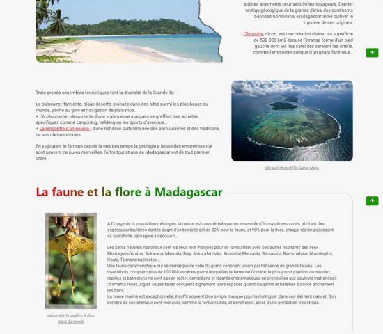 creation du site madagascar island