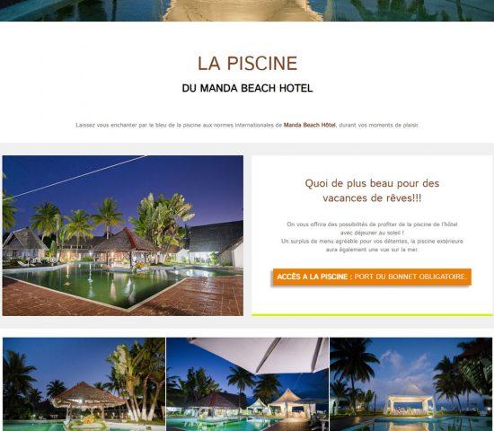 creation du site manda beach