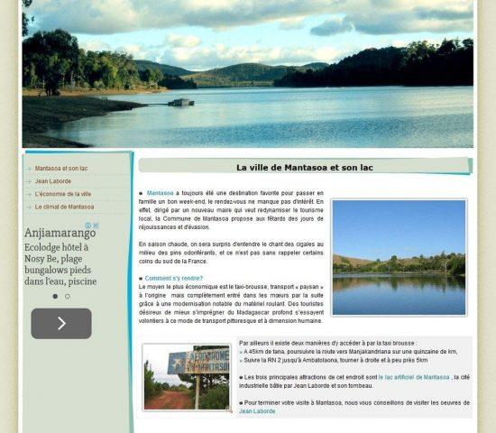 creation site Mantasoa