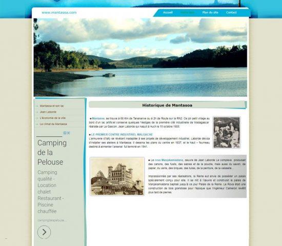 creation du site internet Mantasoa