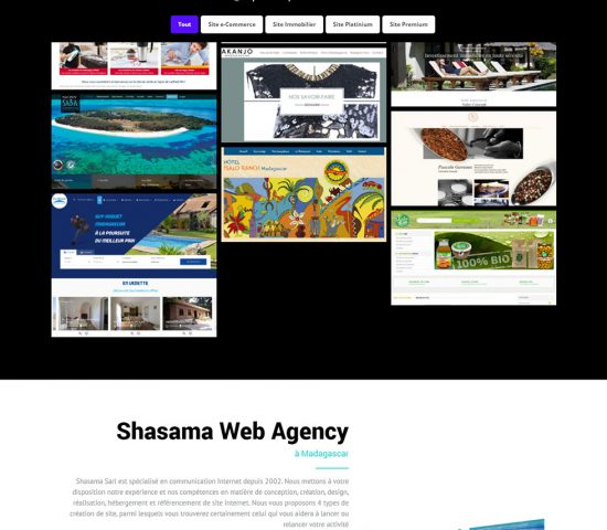 shasama - creation site web